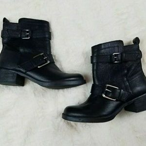 sole society black ankle boots booties 6